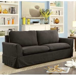Skirted Sofa with Flared Arms