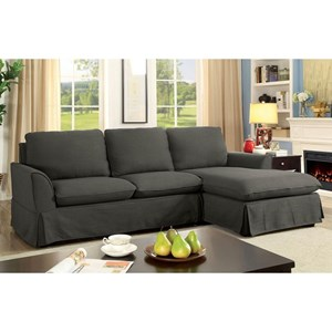 Skirted Sectional with Chaise