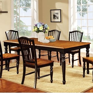 Country Dining Table with Leaf