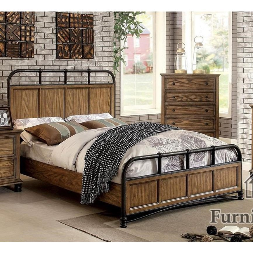 McVille California King Bed by Furniture of America at Nassau Furniture and Mattress