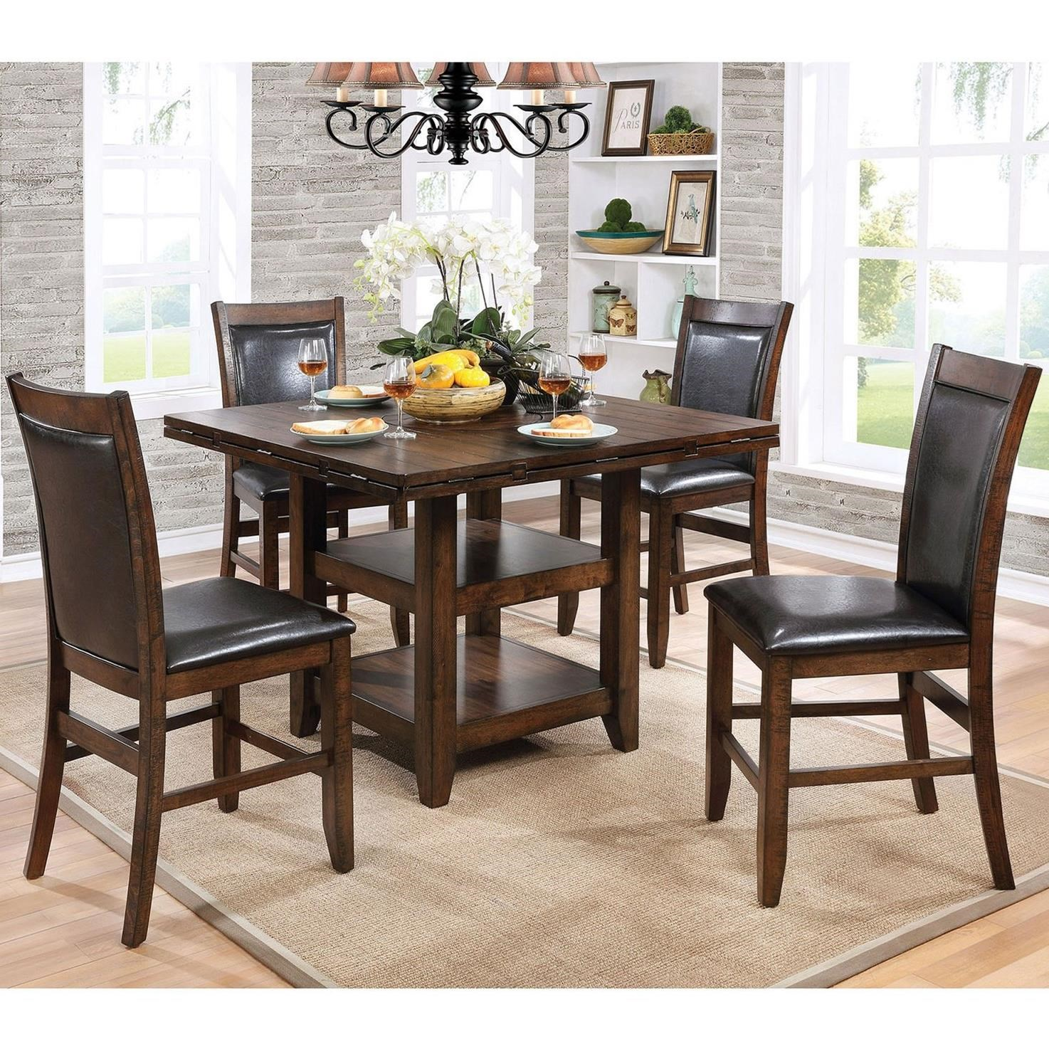 Meagan I Counter Height Dining Set by Furniture of America at Nassau Furniture and Mattress