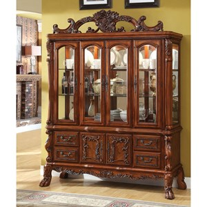 Traditional Hutch and Buffet Set