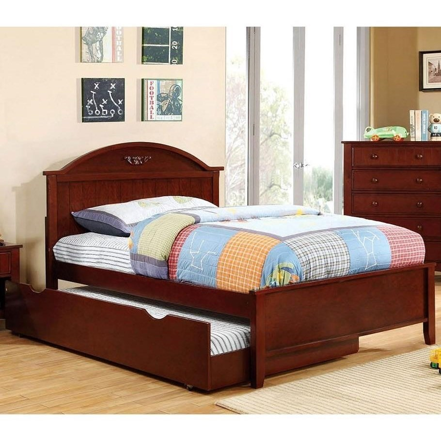 Medina Full Bed with Trundle at Household Furniture