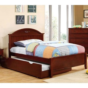 Transitional Twin Bed with Trundle