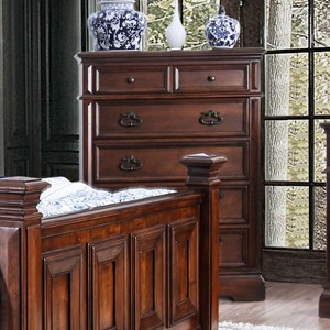 Traditional Chest with Felt-Lined Top Drawers