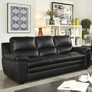 Casual Leather Match Sofa