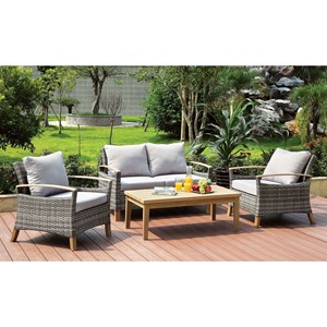 2 Chair, Loveseat, Table Patio Set