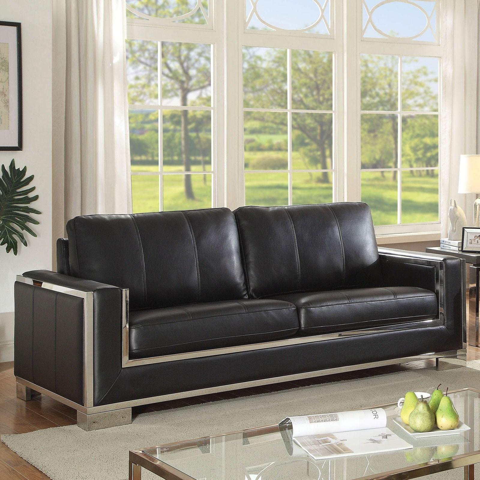Monika Contemporary Sofa by Furniture of America at Dream Home Interiors