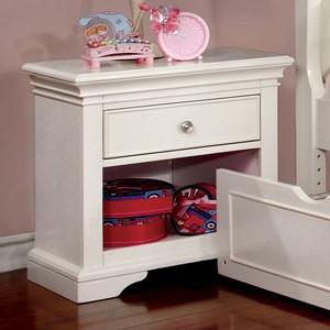 Transnitonal 1 Drawer and 1 Shelf Night Stand