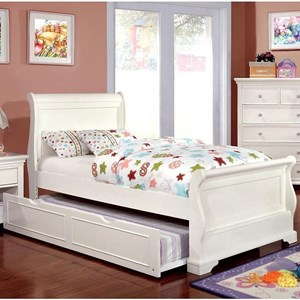 Twin Sleigh Bed with Trundle