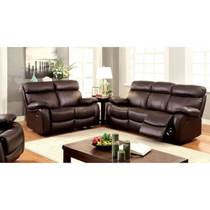 Casual Leather Match Sofa, Loveseat, and Recliner Set
