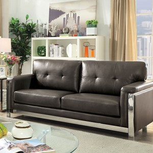 Contemporary Sofa with Stainless Steel Frame