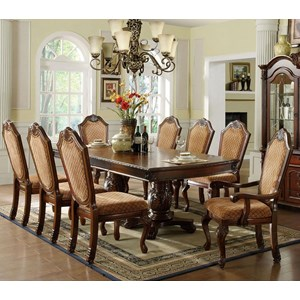 Table + 2 Arm Chairs + 6 Side Chairs