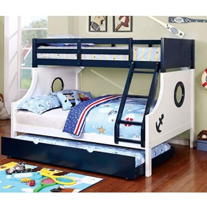 Nautical Twin over Full Bunk Bed