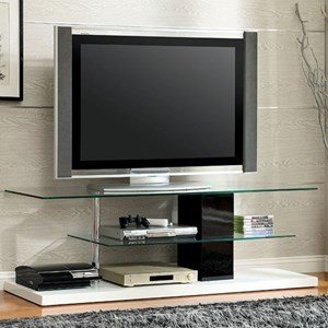 Contemporary TV Console with Bottom Shelving