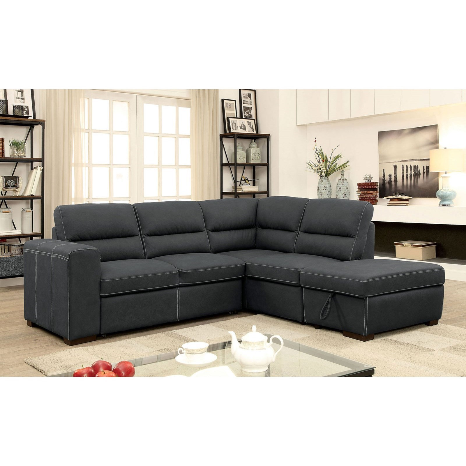 Nellie Sectional by Furniture of America at Nassau Furniture and Mattress