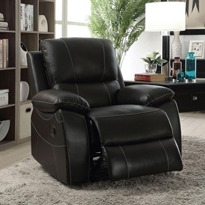 Recliner with Contrast Stitching