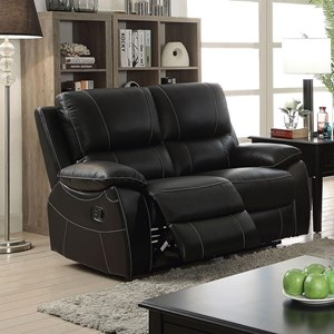 Reclining Loveseat with Contrast Stitching