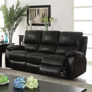 Reclining Sofa with Contrast Stitching