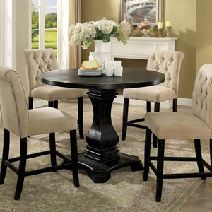 Vintage Style Round Counter Height Table