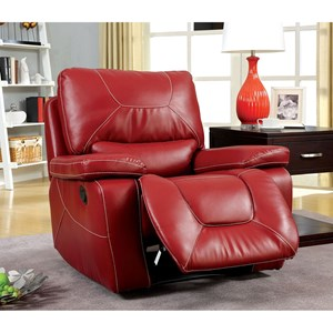 Glider Recliner with Padded Track Arms