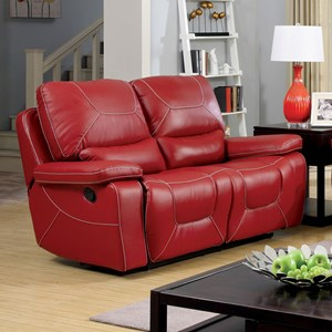 Two Recliner Lovseat with Padded Arms