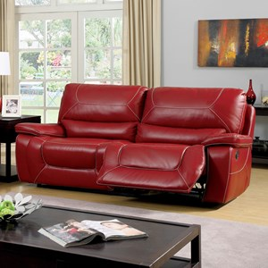 Two Cushion Recliner Sofa with Padded Arms