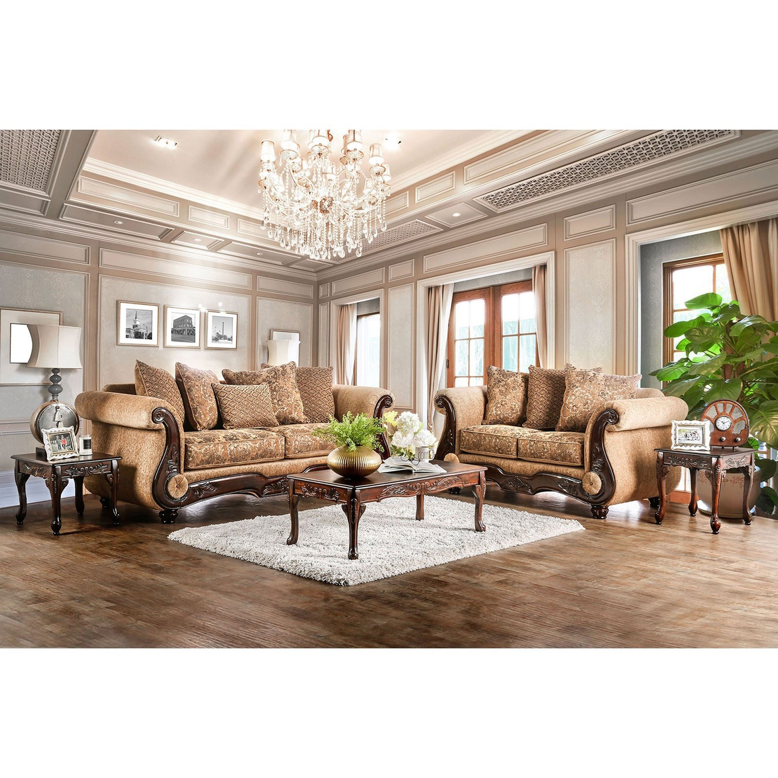 Nicanor Sofa and Love Seat at Household Furniture