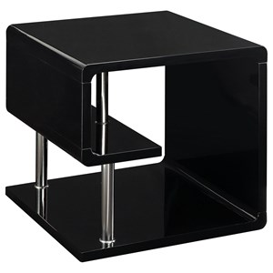Contemporary End Table with Open Shelving