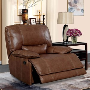 Recliner with Pillow Arms