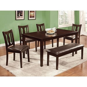6 Pc. Dining Table Set w/ Bench