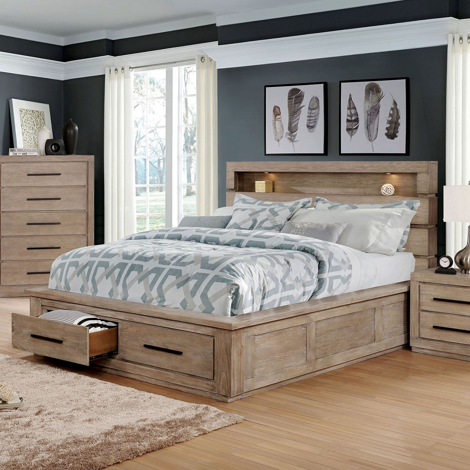 Oakburn King Bed  by Furniture of America at Dream Home Interiors