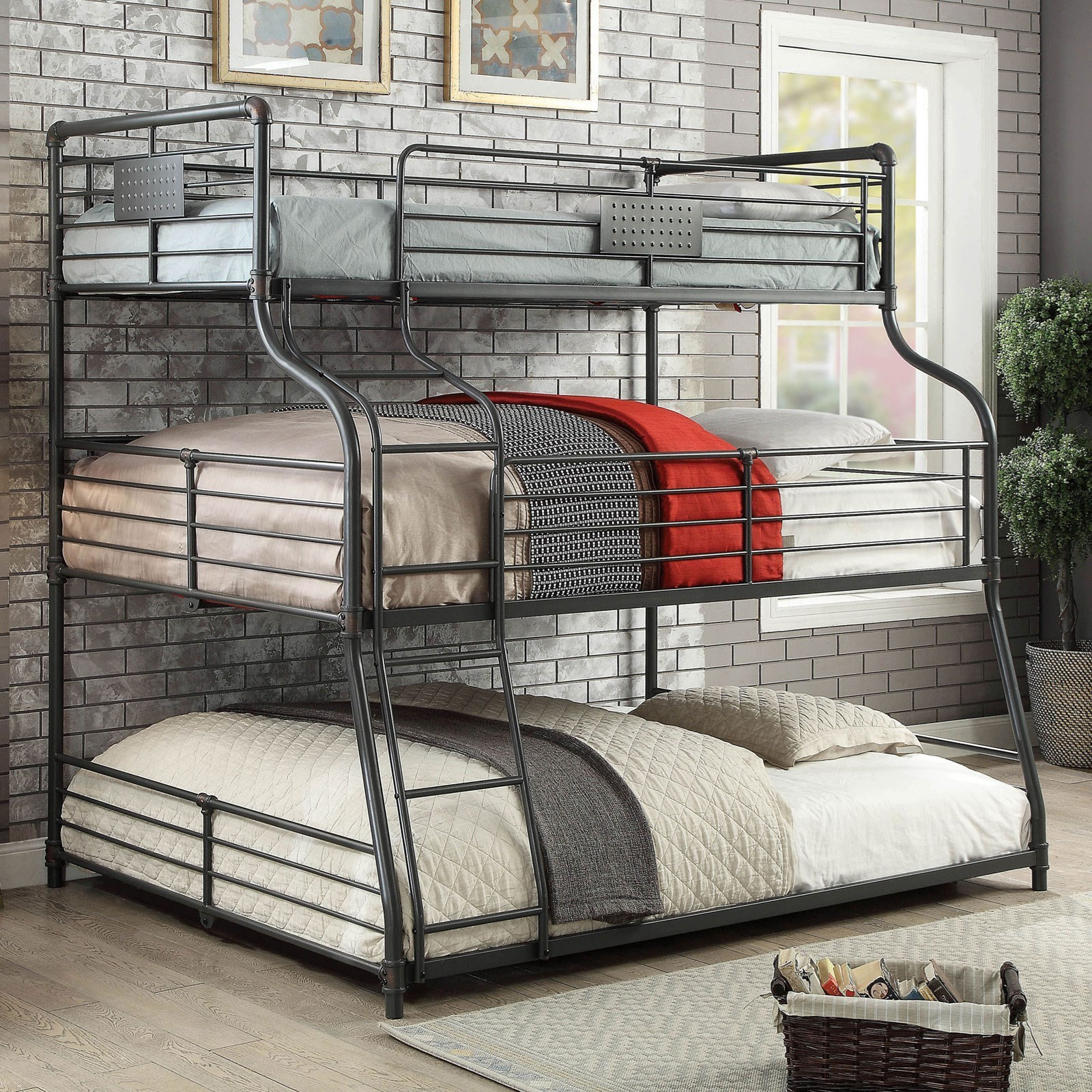 Olga III Twin/Full/Queen Bunk Bed at Household Furniture