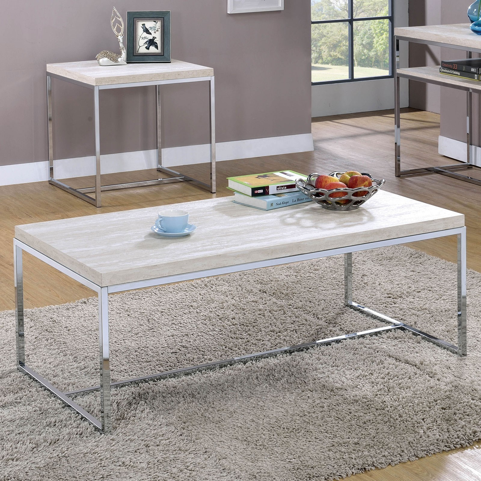 Olle Coffee Table by Furniture of America - FOA at Del Sol Furniture
