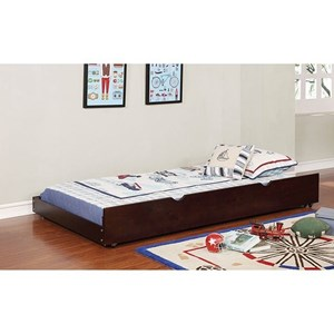 Transitional Large Trundle for Twin or Queen Sized Bed