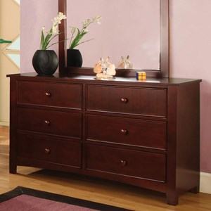 Transitional Dresser with Round Drawer Knobs