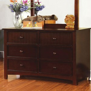 Transitional Dresser with Round Drawer Knobs