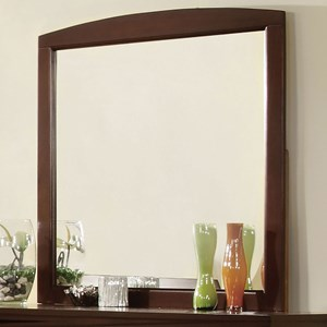 Transitional Mirror with Wood Frame