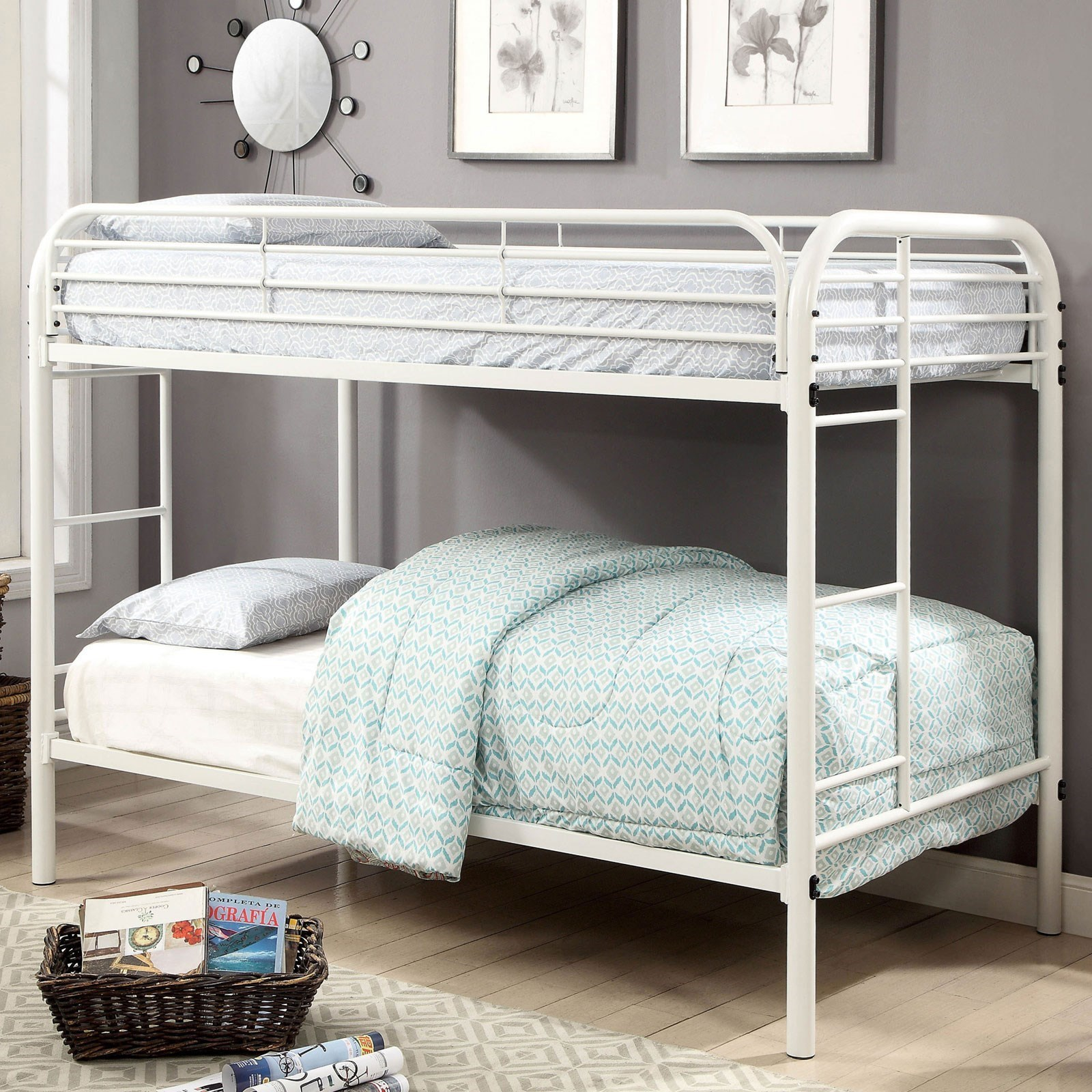 Opal Twin-over-Twin Bunk Bed at Household Furniture