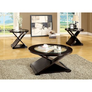Contemporary 3 Pc. Table Set