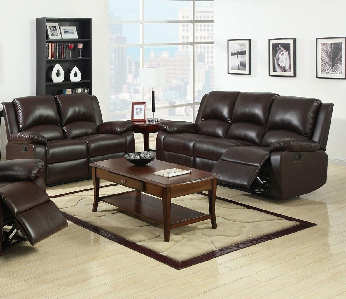 Oxford Reclining Sofa + Love Seat at Household Furniture