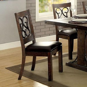 Traditional Set of Two Side Chairs