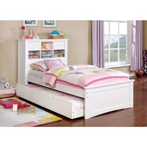 Twin Bookcase Bed with Trundle and Reading Light