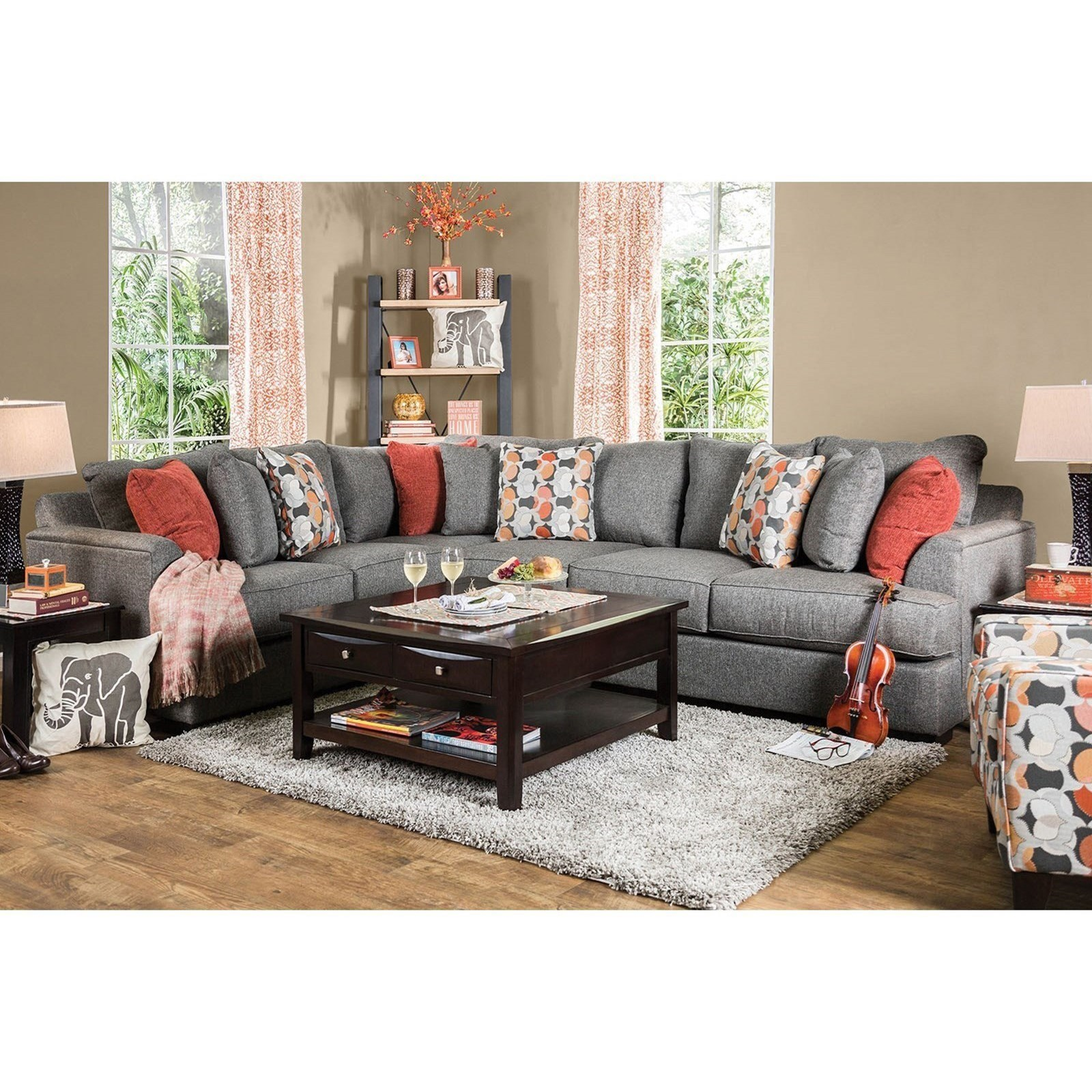 Pennington Sectional Sofa by Furniture of America - FOA at Del Sol Furniture