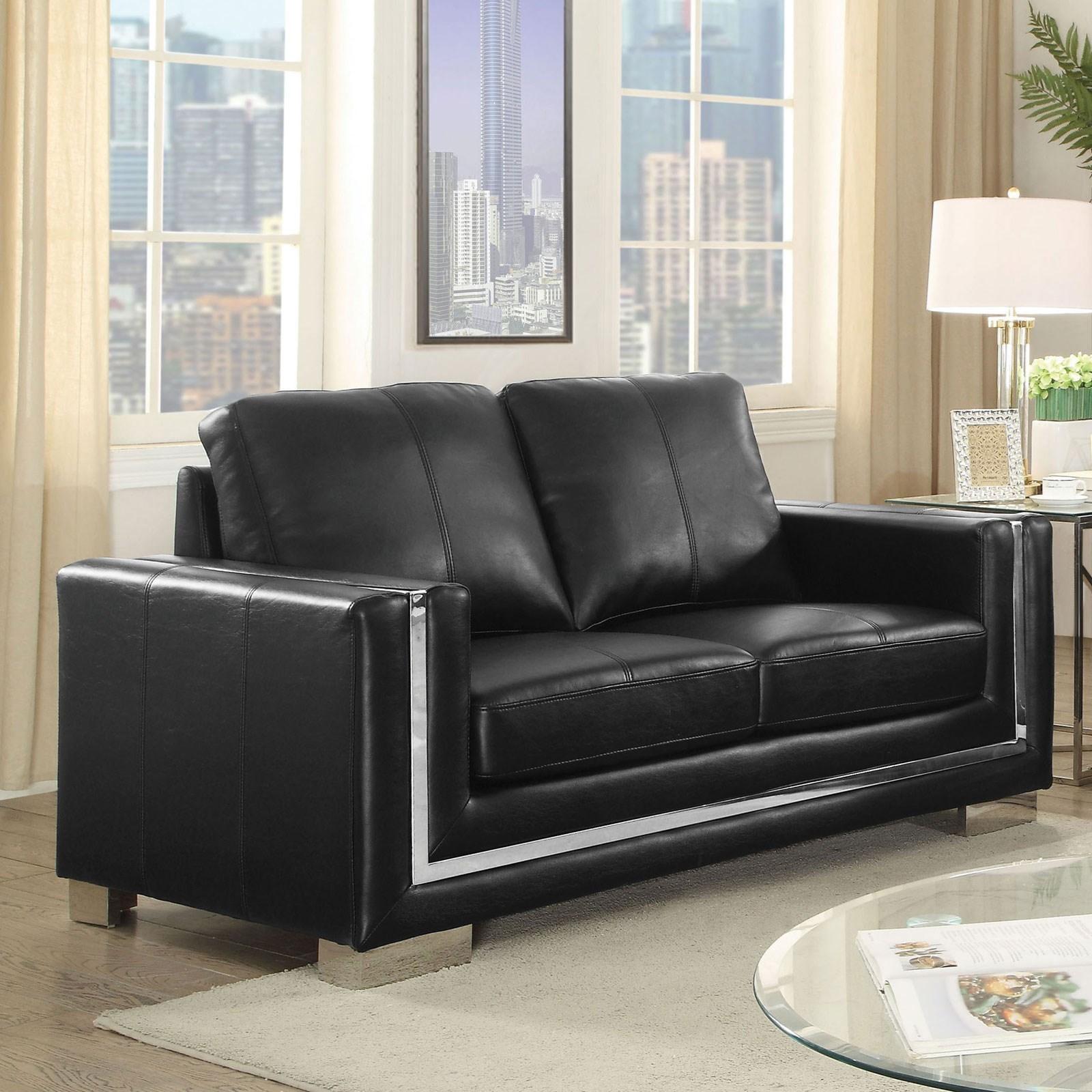 Perla Love Seat by Furniture of America at Nassau Furniture and Mattress