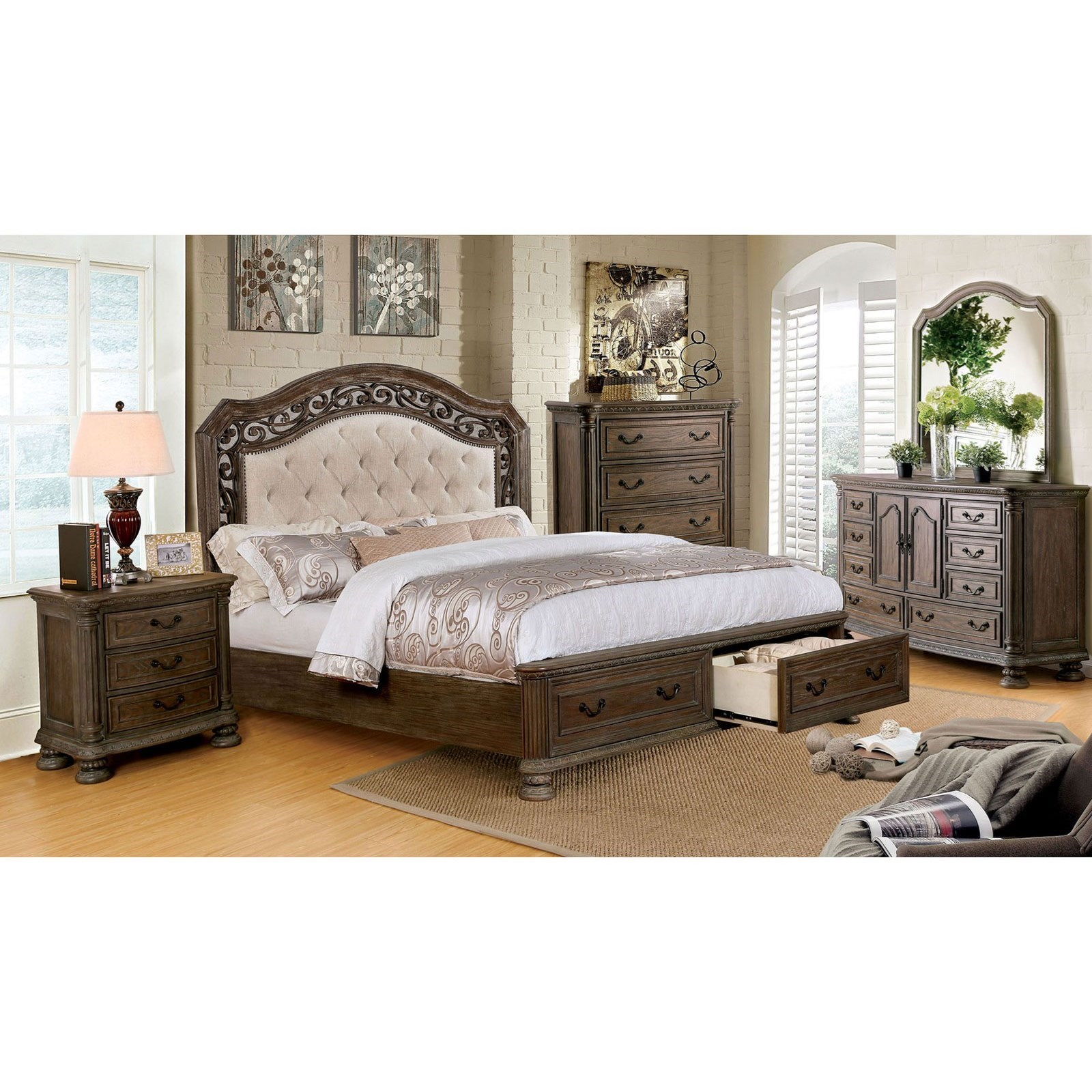 Persephone Queen Bedroom Group at Household Furniture