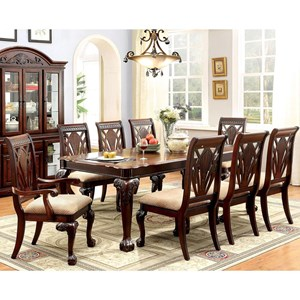 Dining Set with Two Arm Chairs and Six Side Chairs