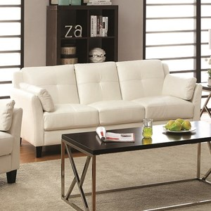 Contemporary Sofa with Inner Armrest Cushioning