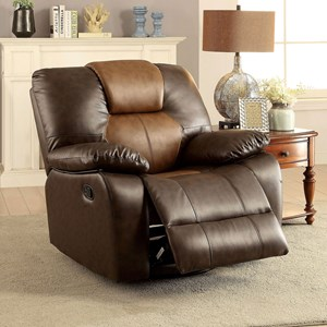 Casual Two Tone Recliner