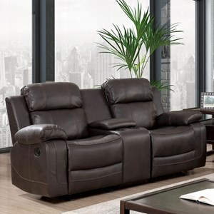 Console Loveseat with Cupholders